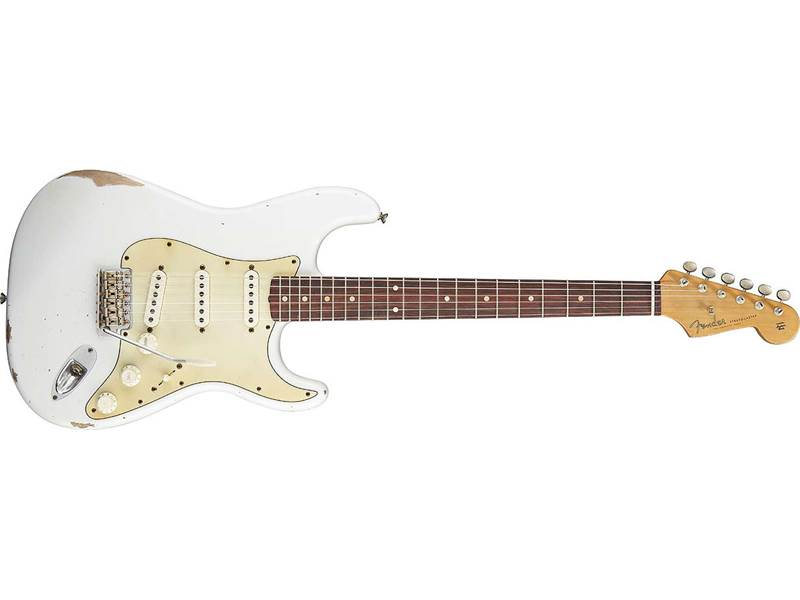 FENDER Road Worn 60s Stratocaster RW OW Olympic white | Kytary typu Strat - 1