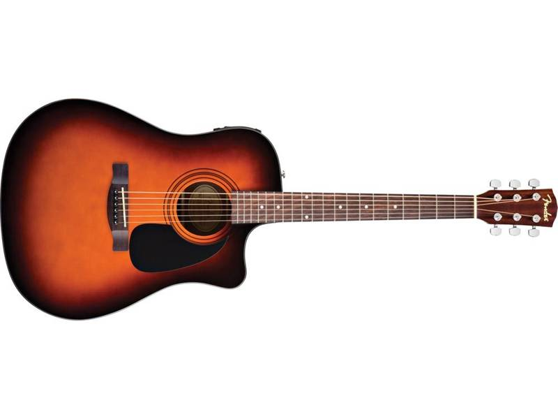 FENDER CD-60CE SB elektroakustická kytara sunburst | Dreadnought - 1