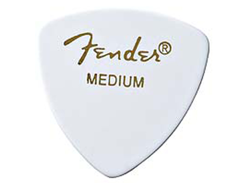 FENDER trsátko 346 Classic Celluloid, Medium, White | Trsátka - 1