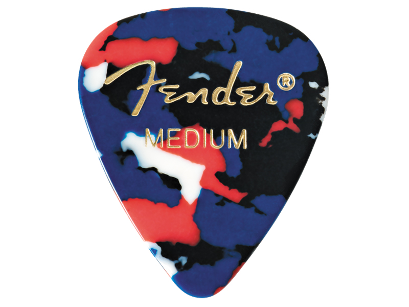 FENDER trsátko 351 Classic Celluloid, Medium, Confetti, 1ks | Trsátka - 1