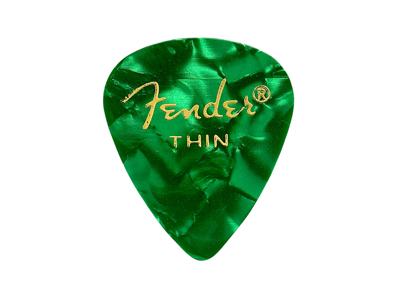 Fender trsátko 351 Premium Celluloid 12 ks Thin Green Moto | Trsátka - 1
