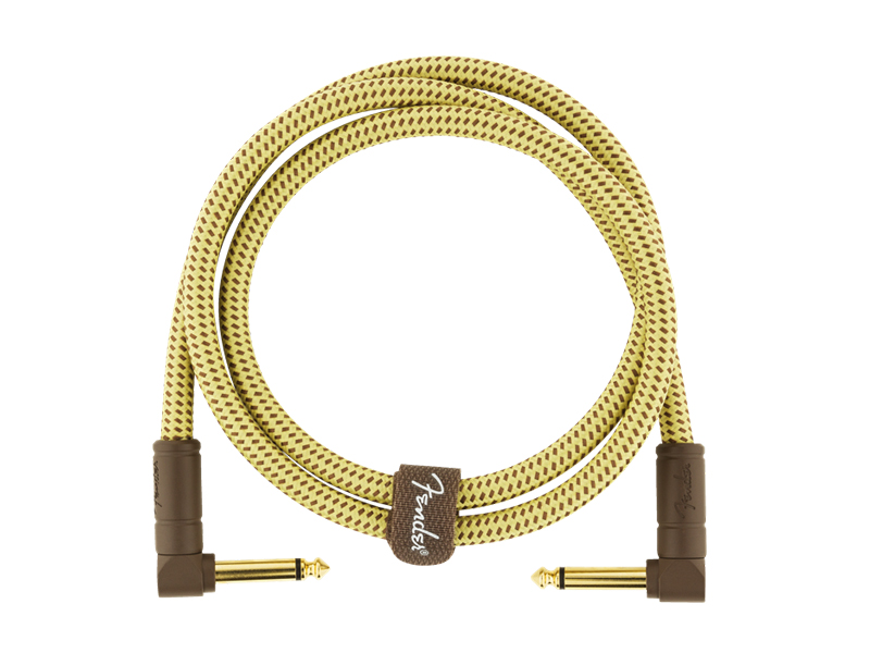 FENDER Deluxe Series Instrument Cable, Angle/Angle, 3', Tweed | Kabelové propojky - 3