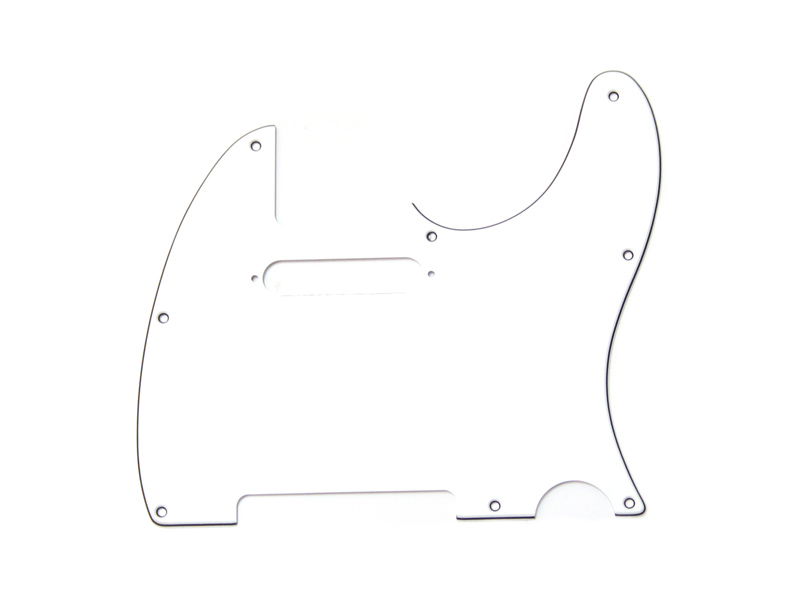 FENDER Pickguard Telecaster, 8-Hole Mount, White, 3-Ply | Pickguardy - 1