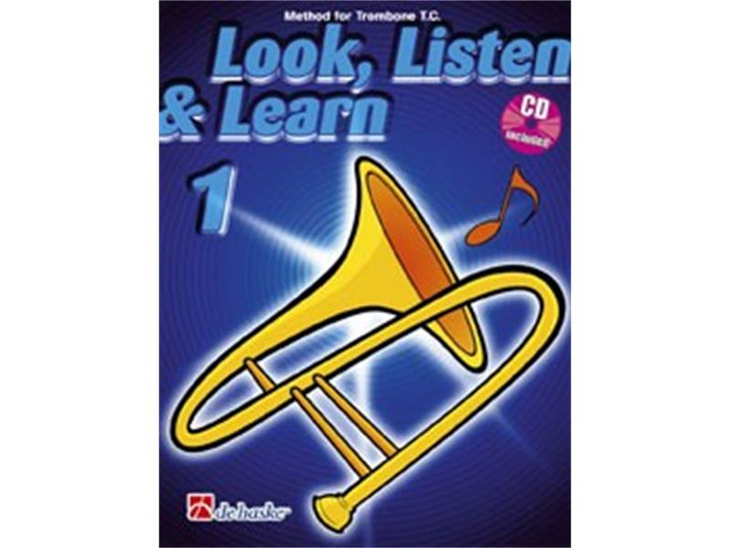 LOOK, LISTEN & LEARN 1 + CD method for trombone | Pro školy, učebnice - 1