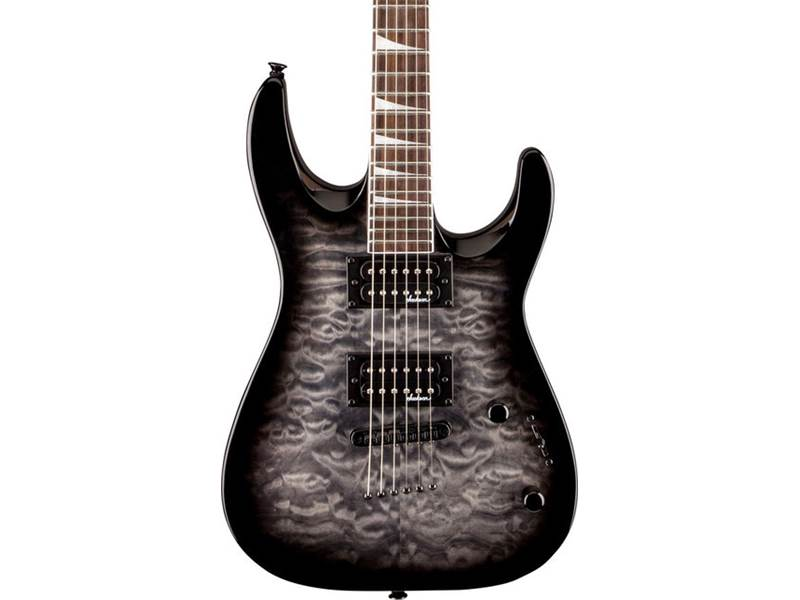 Jackson JS32TQ Dinky Arch Top, Transparent Black | Kytary Superstrat - 2