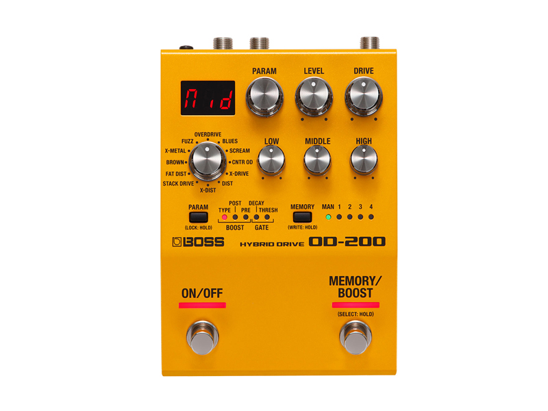BOSS OD-200 Hybrid Drive | Overdrive, Distortion, Fuzz, Boost - 1