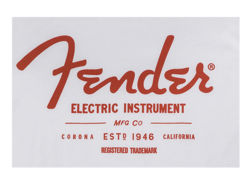 FENDER Electric Instruments Mens T-Shirt, White, L | Trička L - 3