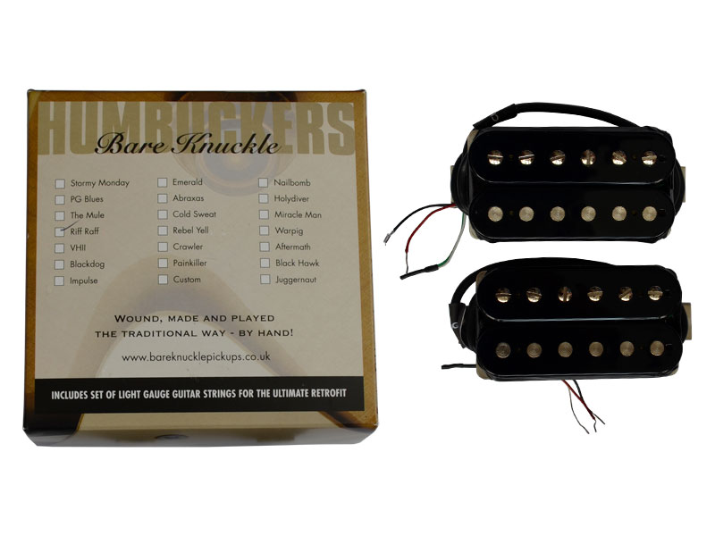 Bare Knuckle Riff Raff calibrated open set Humbucker Black | Sady snímačů - 3