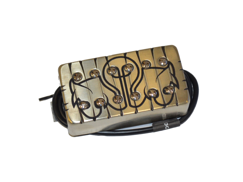 Bare Knuckle Juggernauts bridge Humbucker Tyger Cover Bulb Etch | Snímače Humbucker - 1