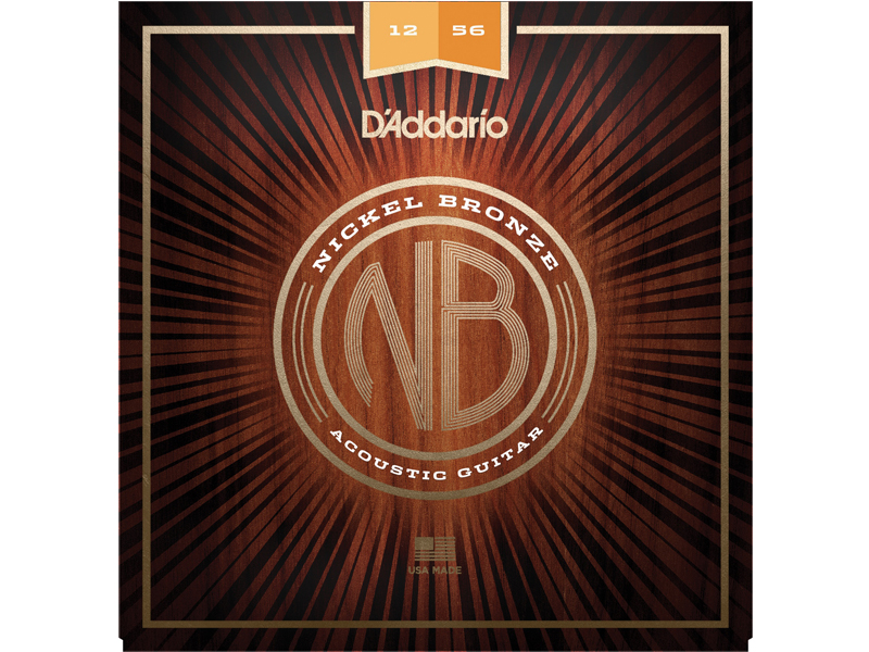 D'ADDARIO NB1256 Nickel Bronze Acoustic Light Top / Medium Bottom | Struny pro akustické kytary .012 - 1