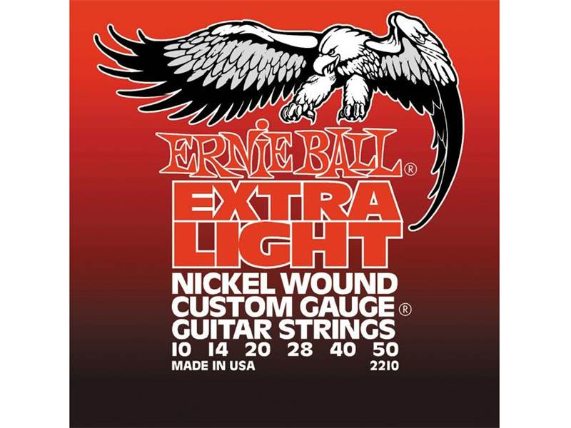 Ernie Ball 2210 Extra Light Electric Nickel Wound .010 - .050 | Struny - 1