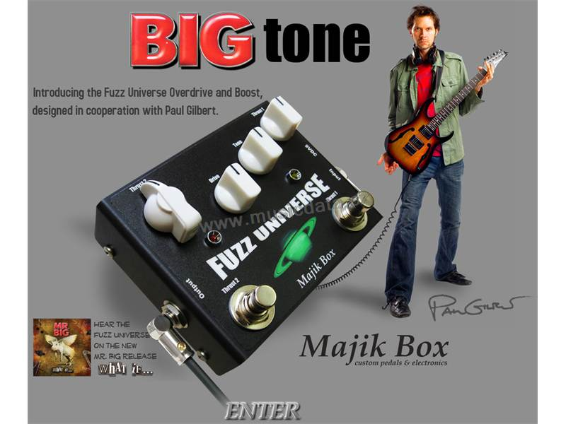 Majik Box Fuzz Universe Paul Gilbert Overdrive | Overdrive, Distortion, Fuzz, Boost - 1