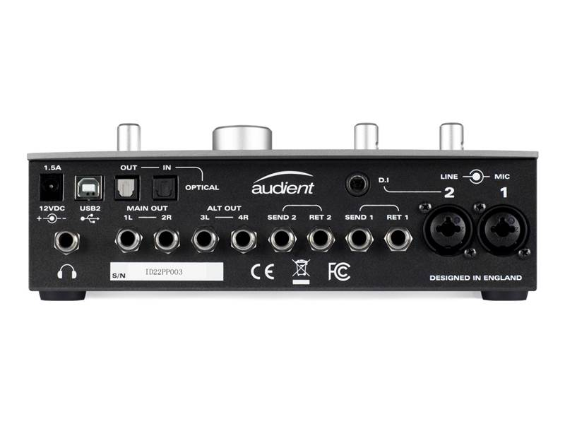 AUDIENT iD22 USB High Performance AD/DA interface | Zvukové karty, Audio Interface - 3