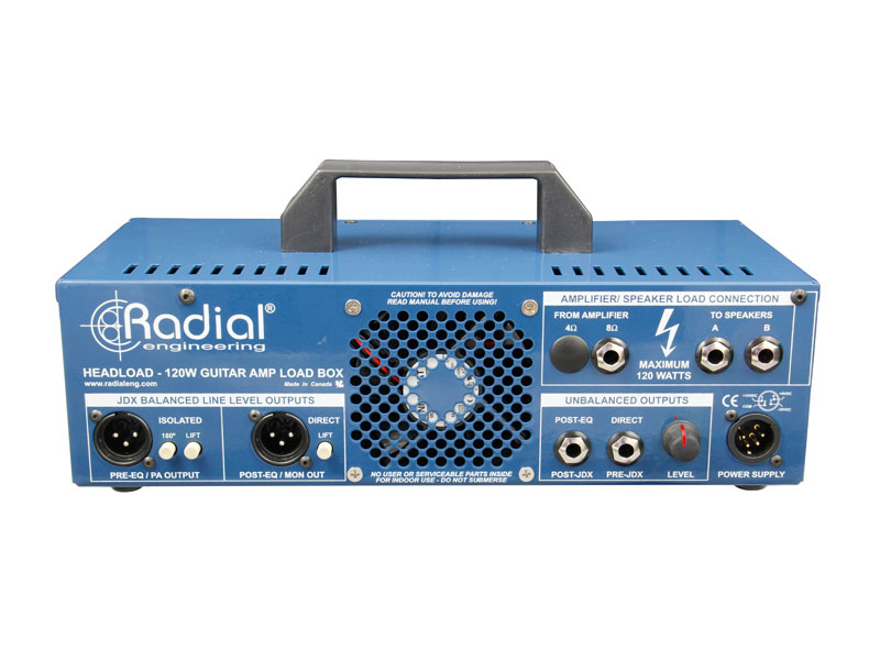 Radial Headload V8 - Guitar Amp Load Box | Power brake a Speaker simulátory - 2
