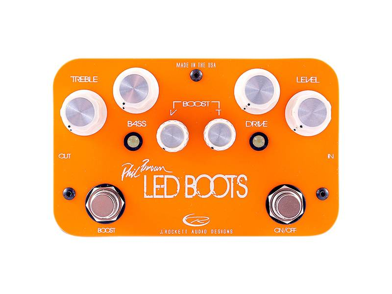 J. Rockett Audio Phil Brown LED BOOTS  - Boost Overdrive | Overdrive, Distortion, Fuzz, Boost - 1