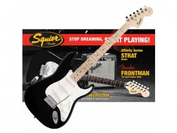 FENDER SQUIER Affinity Strat Pack with Fender Frontman 10G - Black
