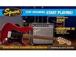 Fender Squier Affinity Series Strat HSS Pack, Candy Apple Red