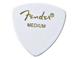 FENDER trsátko 346 Classic Celluloid, Medium, White | Trsátka