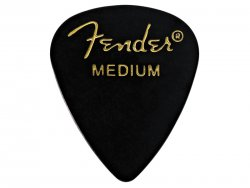 FENDER trsátko 351 Classic Picks, Medium, Black