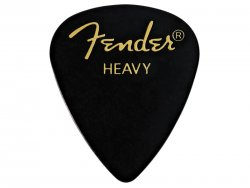 FENDER trsátko 351 Classic Picks, Heavy, Black