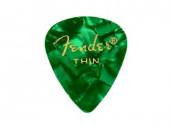 Fender trsátko 351 Premium Celluloid 12 ks Thin Green Moto | Trsátka