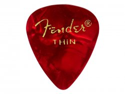 FENDER trsátko 351 Premium Celluloid 1ks Thin Red moto | Trsátka