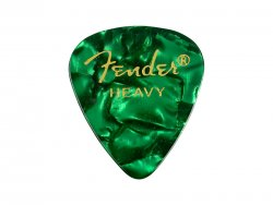 FENDER trsátko 351 Premium Celluloid 1ks Heavy Green moto