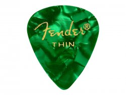FENDER trsátko 351 Premium Celluloid 1ks Thin Green moto