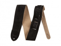 "FENDER 2,5"" Suede Guitar Strap Black"