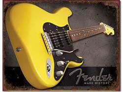 FENDER cedule kovová Make History Tin Sign