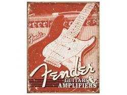 FENDER cedule kovová Weathered Tin Sign