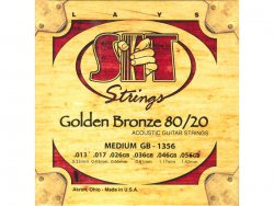 SIT GB 1356 struny akustická kytara Golden Bronze Medium