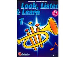 LOOK, LISTEN & LEARN 1 + CD method for trumpet | Školy hry na trubku