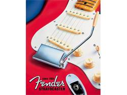 FENDER cedule kovová Red Stratocater Tin Sign