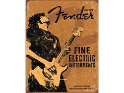 FENDER cedule kovová Fine Electric Instruments Tin Sign
