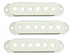 Bare Knuckle Strat Cover White set | Potenciometry, knoby