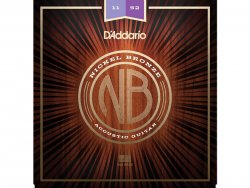D'ADDARIO NB1152 Nickel Bronze Acoustic Custom Light