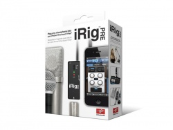 IK MULTIMEDIA iRig PRE mic preamp pro iPhone, iPod, iPad