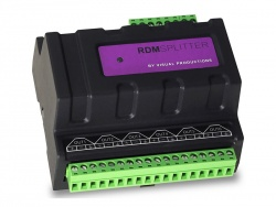 Visual Productions DIN-Rail DMX Splitter, Terminal